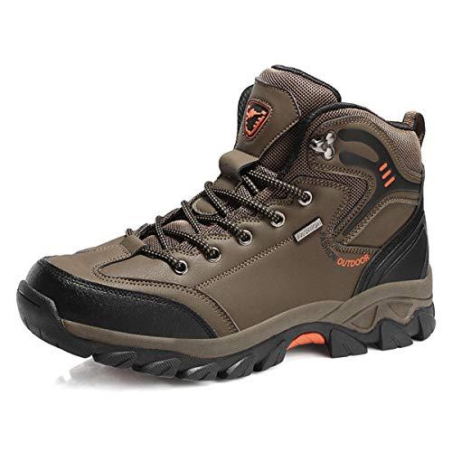 MERRYHE Sports de Plein air Chaussures de randonnée Trekking Chaussures de randonnée Chaussures d'escalade Homme Léger et antidérapant Camping résistant à la randonnée Chaussures d'alpinisme,Brown-45