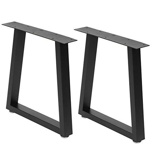 Juego de 2 patas de mesa de hierro forjado con patas de metal para encimeras, estilo industrial, para mesas de café, mesas de salón