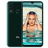 EL D60 Pro Smarthphone Libre, 6,1 Pulgadas 4G Teléfono Móvil 3GB + 32GB (SD 128GB) Pantalla, Android 10 Batería 4000mAh, Cámara Triple 13MP Movil Libre Barato Dual SIM Face ID/Huella Dactilar- Verde