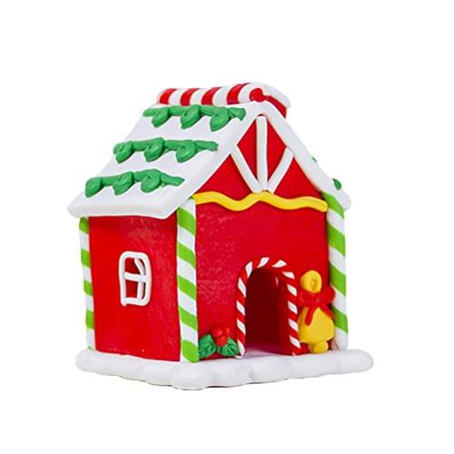 WMDHH Świąteczne piernikowe cukierki dom Boże Narodzenie urocza laska cukrowa ozdoba choinka mała mini wieś mini dekoracje do domu