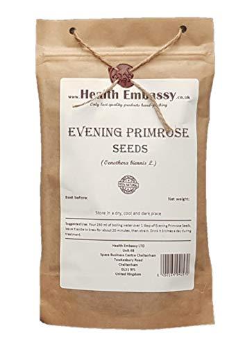 Health Embassy Gemeine Nachtkerze Samen (Oenothera Biennis) / Evening Primrose Seeds,100g