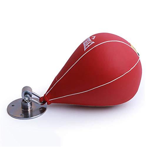 Saco de boxeo Speed Bag - Bola de perforación giratoria de cuero resistente para colgar - Saco de boxeo en forma de pera con accesorios de montaje, ideal para el hogar, entrenamiento de gimn