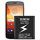 Moto G4 Play Battery Upgraded ZURUN 3100mAh SNN5976A Replacement Battery for Moto G4 Play XT1607, Moto G5 XT1601, Moto E3, Moto E4, XT1603, XT1675, GK40 Spare Battery
