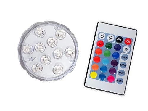 well2wellness® kleine LED Poolbeleuchtung RGB (farbig) + Fernbedienung (024383)