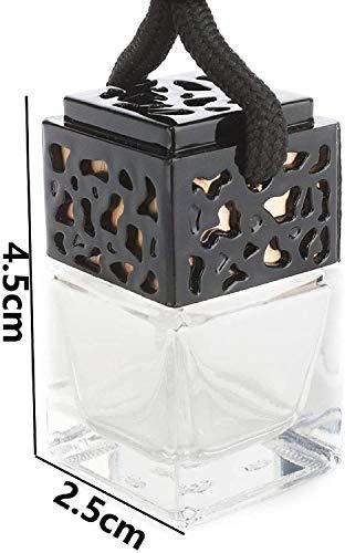 Hponkm 20 botellas de perfume para coche, minidifusor de botellas de perfume vacías, adornos con cordón (color negro)