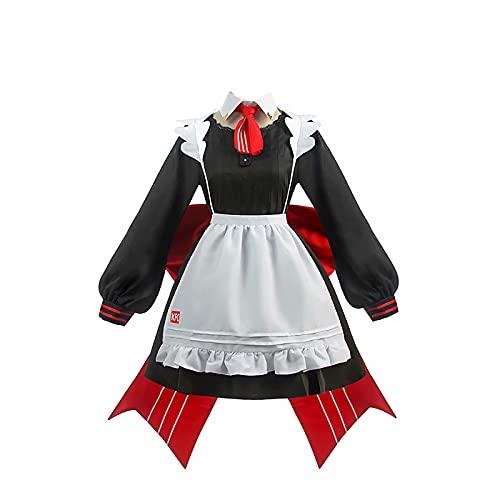 Genshin Impact Noelle Disfraz de Cosplay Maid Dress Halloween Carnaval Fiesta Disfraz Disfraz Disfraz Noelle Delantal Maid Suit Cosplay Set con Sombreros Uniforme Vestido para Mujer Conjunto Regalos