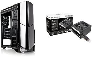Thermaltake VERSA N21 Mid Tower Gaming Computer Case with SMART 80 Plus 600 Watt ATX/EPS Power Supply Bundle - Black