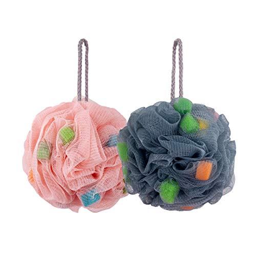 (30% OFF Coupon) Shower Sponge Balls W/ Easy Foaming Sponge Grains 2-Pk $3.49