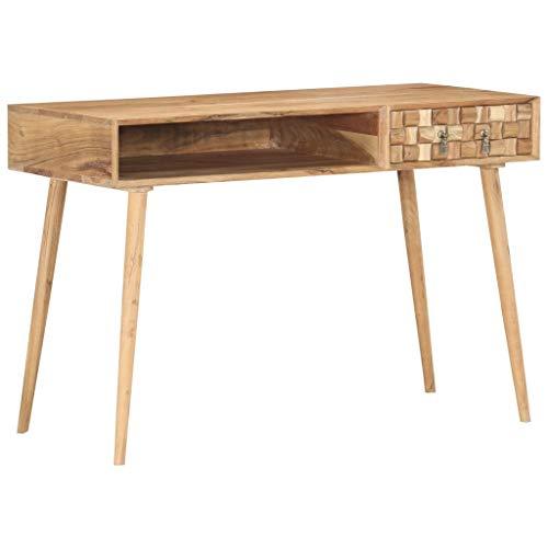 vidaXL Legno Massello di Acacia Scrivania Tavolo Tavolino Scrittoio Postazione di Lavoro Piano di Lavoro Mobili per Studio e Ufficio 115x50x76 cm