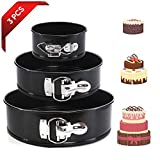 TOMORAL Cake Tin Set,Nonstick and Leakproof 3 Pieces (4'/7'/9') Cake Pan/Springform Cake Tin/Cheesecake Pan Set with Removable Bottom