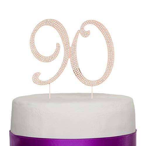 Number 90 Cake Topper (Rose Gold)