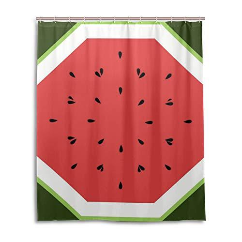 JSTEL Decor Rideau de Douche 100% Polyester Motif pastèque 152 x 183 cm