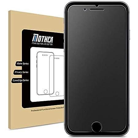 Mothca アンチグレア 強化ガラス iPhone SE 第2世代 (2020)対応 液晶 保護フィルム 日本旭硝子製素材 指紋防止 反射防止 硬度9H 3D touch対応 飛散防止 キズ防止 衝撃吸収 撥油性 疎水性
