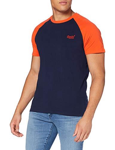 Superdry Herren OL Baseball Tee Freizeithemd, Blau (Rich Navy ADQ), X-Large