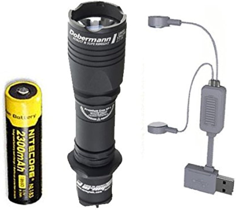 Combo    Armytek Dobermann Pro v3 XHP35 Hi Warm Taschenlampe mit NL183 Akku  A1 Ladegerät B07CZN71Q6  Qualitätskönigin f5f58d