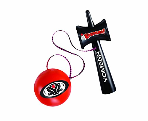 Yomega Kendama – The Traditional Japanese Toss and Catch Skill Toy made of durable plastic.  Colors may vary.