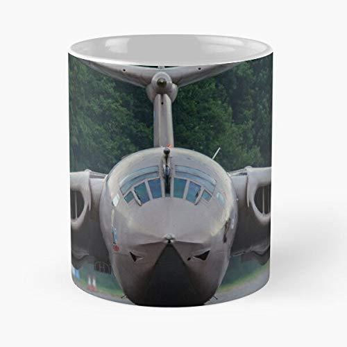 Aircraft Bruntingthorpe RAF Force Air Plane Victor Royal Jet Handley Page Taza de café con Leche 11 oz