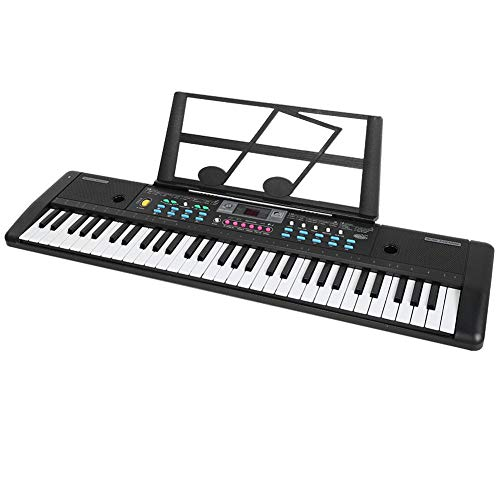 61-Key Digital Electric Piano Keyboard, Portable Electronic Keyboard with Sheet Music Stand for Kids & Adults Beginners, 29.9x7.9x2.4inch