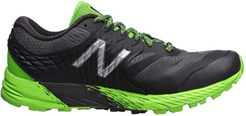 New Balance Herren Summit KOM Traillaufschuhe, Schwarz (Phantom/RGB Green/Silver Metallic Gg), 46.5 EU