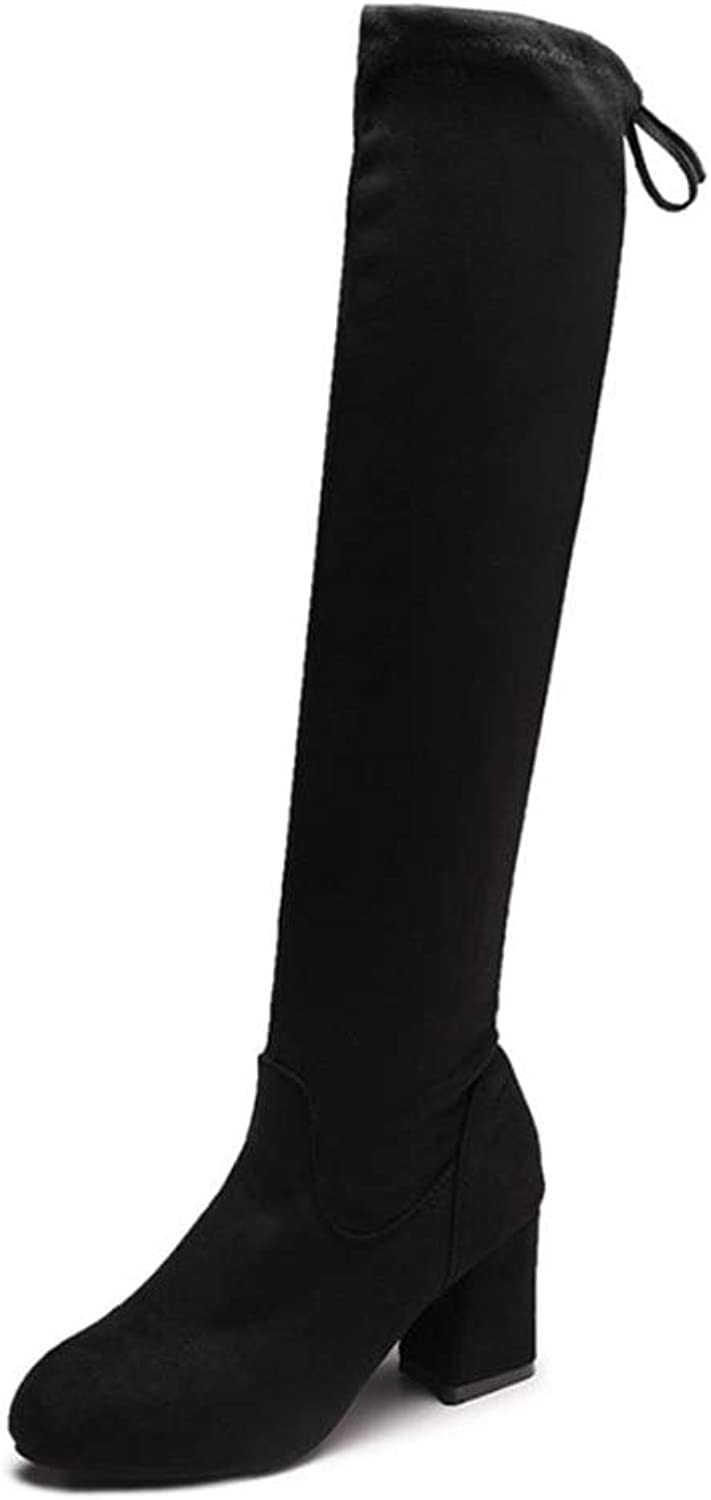 Coloing Women Thigh High Stretch Boot Trendy Sexy Over The Knee Pullon Boot Comfortable
