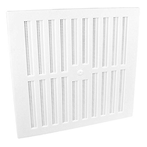 Home Smart Lüftungsgitter, verstellbar, mit Fliegenschutz, 22,9x22,9cm, Kunststoff, Weiß