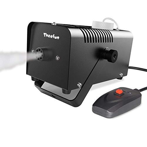 DFJU Máquina de Humo, máquina de Humo portátil para Fiestas y Halloween de 400 vatios con Control Remoto con Cable para Vacaciones y Bodas: Rendimiento Impresionante