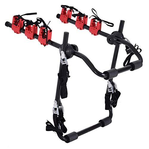 N \ A Automotive 3 Soporte Trasero para Bicicleta Soporte para automóvil Soporte para Bicicleta, Soporte para Bicicletas, Soporte Plegable para Bicicleta montado en el Maletero para la mayoría