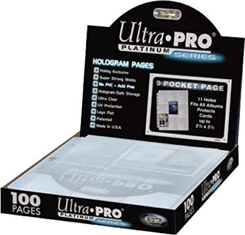 Ultra Pro Caja de 100 Hojas de 9 Bolsillos, Multicolor, 23 x 3.4 x 30 cm (E-83423)