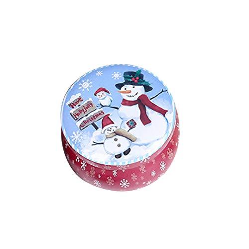 Amosfun caja de galletas de navidad tarro contenedores de almacenamiento de dulces galletas de navidad lata para...