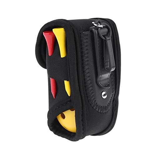 Kunyun Mini bolsa portátil para pelota de golf SBR neopreno cintura con 4 tees+2 bolas de plástico hueco bolsa de almacenamiento