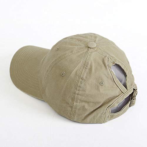 AHJSN Gorra de béisbol Gorra de Cola de Caballo Gorra Curvada Sombrero de Sol para Deportes al Aire Libre de Primavera y Verano
