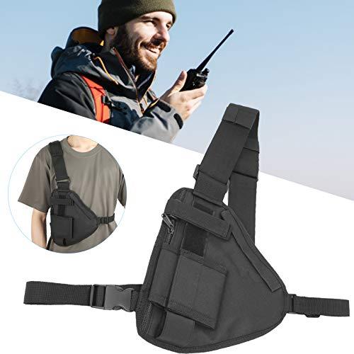 minifinker Borsa per Gilet walkie-Talkie, Borsa per walkie‑Talkie Regolabile Portatile per la Caccia