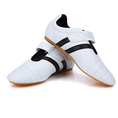 HAOX Scarpe da Taekwondo, Scarpe da Boxe con Suole in Gomma Oxford Materiale Traspirante Senior per la Boxe per Il Taekwondo per Il Kung Fu per Il Taichi(12-39)