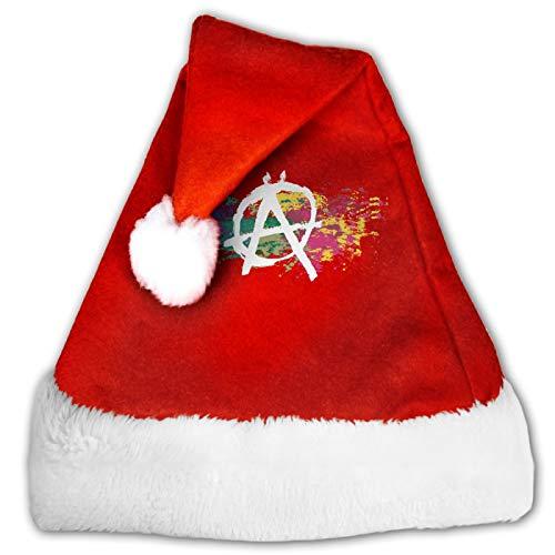 MXDISIWD Lindo Sombreros De Navidad Anarqua Smbolo De Acuarela Arco Iris Santa Sombreros Para Navidad Traje Decoracin Fiesta