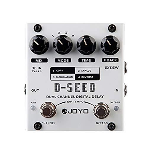 YGMX D-Seed E-Gitarren-Effekt-Pedal, Dual Channel Digital Delay Mit Vier Modi Für Gitarre Toneinstellung Tuner,Sound Adjustment Tuner
