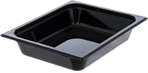Read About Carlisle 10220B03 StorPlus Half Size Food Pan, Polycarbonate, 2.5 Deep, Black