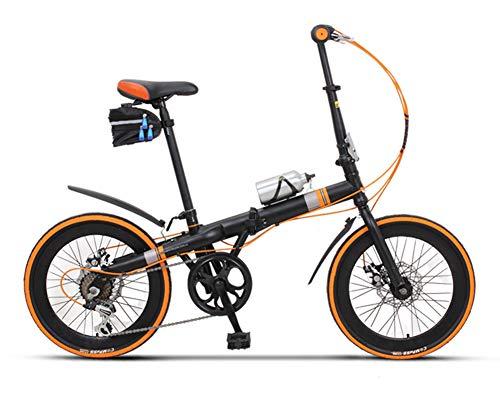 ABYYLH Fahrrad 20 Zoll Herren/Damen, Jugendrad Citybike Klappbar Adult Bike,Orange
