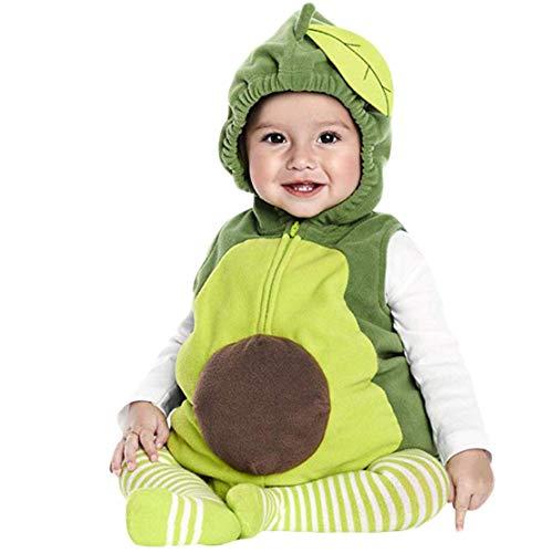 wetry 3PCS Conjunto de Ropa con Capucha para Bebé Encantador Acogedor Disfras a la Moda