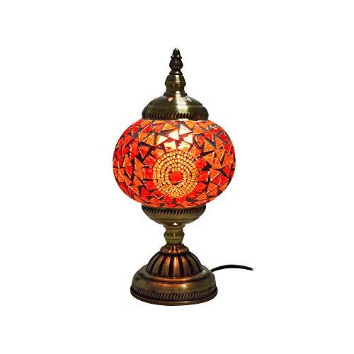 Wankd Mosaiklampe Mosaik - Tischlampe Stehlampe orientalische lampe Bunt Nachttischlampen (C-EU)