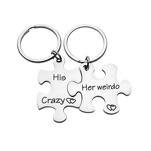 Paar-Schlüsselanhänger-Set für Jahrestag, Paare, Ehemann, Ehefrau, Freundin, Freund, Ihn, Ihr Puzzle-Teil für Herren