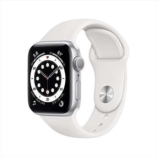 Nuevo AppleWatch Series6 (GPS, 40 mm) Caja de Aluminio en Plata - Correa Deportiva Blanca
