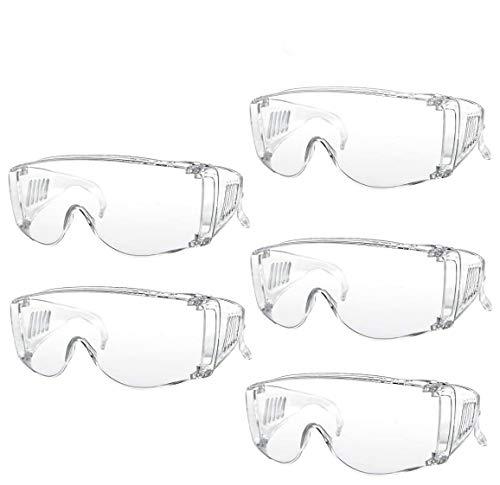 保護メガネ 防塵ゴーグル MountDog 防風ゴーグル 花粉症 風 砂 埃 破片対応 アウトドア/作業用 一眼型 安全ゴーグル 5個セット