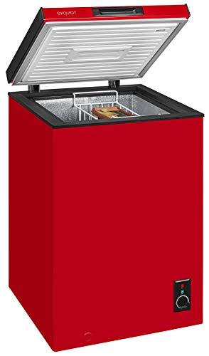 Exquisit Gefriertruhe GT 111-5 A+Rot   Standgerät   98 Liter Nutzinhalt   rot