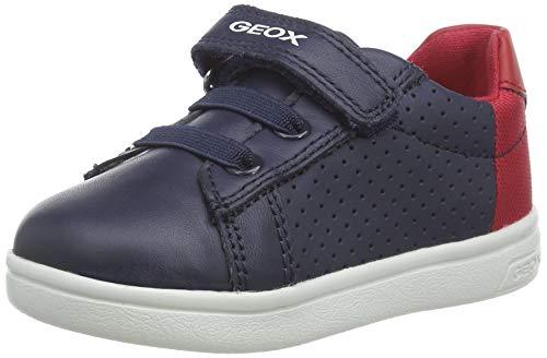 Geox Jungen B DJROCK Boy B Sneaker, Blau (Navy/Red C0735), 22 EU