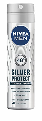 Nivea Men Deo Silver Protect Dynamic Power, Antitranspirant Spray, 4er Pack (4 x 150 ml)