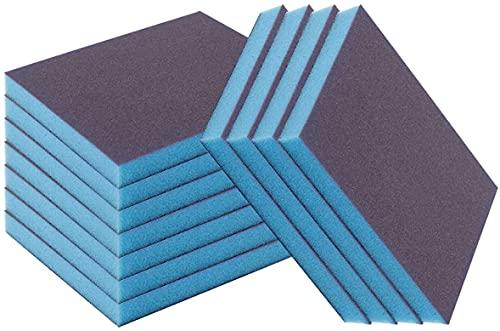 12 PCS Sanding Blocks for All Prep Crafts – 220 Grit Sanding Sponge for Beeswax, Metal, Wall, Corner, Floor, Metal Craft, Wood, Jade, Plastic, Glass, Concrete – Sanding Pads for Woodwork