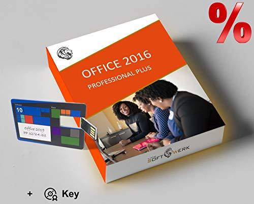 Office 2016 Professional Plus Vollversion | Aktivierungspaket | 32-/64-bit Installations-USB-stick + Original Produktschlüssel | EU-Konform