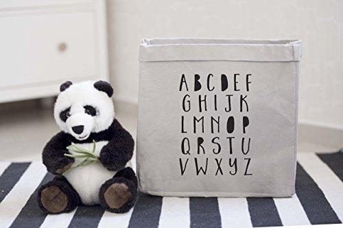 ABC Nursery Storage, Durable Paper Toy Storage Bag Box, Kids Room Decor, Stuffed Animal Storage