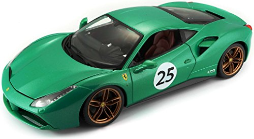 Bburago Maisto France- Ferrari 488 GTB The Green Jewel 70th 1/18ème BBURAGO, 76101