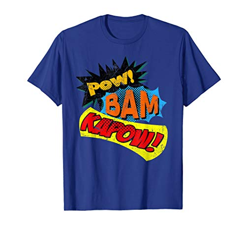 Pow! Bam! Kapow! Comic Book Sound Effect T-Shirt